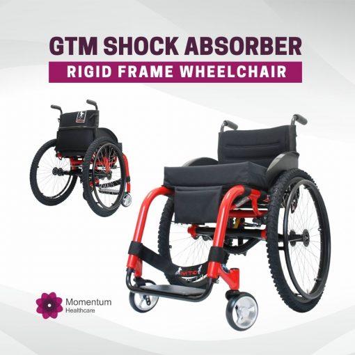 GTM Shock Absorber rigid frame wheelchair