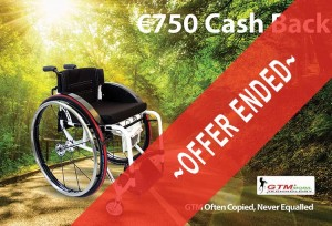 Euro 750 cashback on GTM wheelchairs - Offer Ended